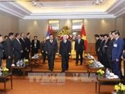 Le secrétaire général du Parti et président du Laos termine sa visite officielle d'amitié au Vietnam