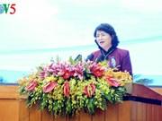 Dang Thi Ngoc Thinh à une conférence de Quang Ninh sur l'émulation