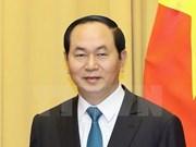 Le président Trân Dai Quang écrit un article sur l'offensive du printemps 1968
