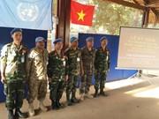 La communauté internationale apprécie la participation du Vietnam aux casques bleus