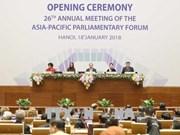 APPF-26 : discussions sur la politique, la sécurité, l'économie et le commerce