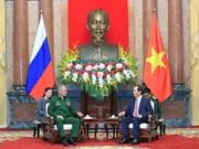 Le président Tran Dai Quang reçoit le ministre russe de la Défense