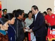 Têt : le président Trân Dai Quang rend visite à des cadres, soldats et habitants de Gia Lai