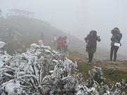 Nord : le mont Mau Son sous la neige