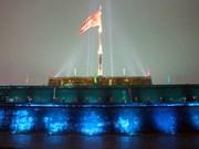 Inauguration du projet d'éclairage de la tour au drapeau de Huê