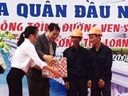 Les autorités de Da Nang se rendent sur les chantiers d'ouvrages de pointe