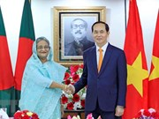Entretien entre le président Trân Dai Quang et la PM bangladaise Sheikh Hasina