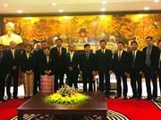 Réception à Hanoi du ministre birman des Affaires frontalières