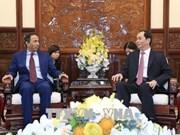 Le président Tran Dai Quang reçoit l'ambassadeur des Émirats arabes unis au Vietnam