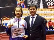 La karatéka Nguyen Thi Ngoan remporte une médaille de bronze aux Pays-Bas