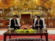 Hanoi et Hong Kong (Chine) cherchent un partenariat économique plus fort