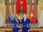 Le président Tran Dai Quang reçoit les ambassadeurs sud-africain et égyptien