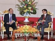 MRC : rencontre entre les Premiers ministres vietnamien et laotien