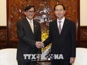 Le président Tran Dai Quang reçoit le diplomate thaïlandais