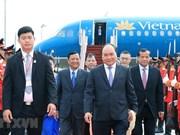 Le Premier ministre Nguyên Xuân Phuc arrive à Siem Reap