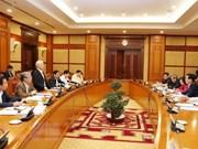 Réunion sur les résultats d'inspection de l'application de la Résolution du 4e Plénum du Parti