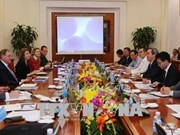 Le chef de la Commission de l'économie du CC du PCV reçoit des experts internationaux en énergie