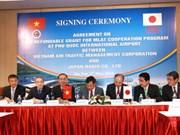 Aide japonaise pour l'aéroport international de Phu Quoc