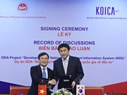 Aide sud-coréenne pour le développement du système d'information national sur les investissements