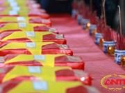 Ha Tinh : inhumation des restes de 12 volontaires tombés au Laos