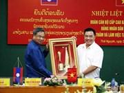 La délégation de la Commission centrale d'organisation du PPRL en visite à Thai Nguyen