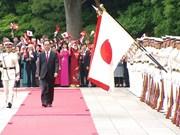 Cérémonie d'accueil officielle du Président vietnamien au Japon