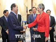 Le président Tran Dai Quang reçoit l'ambassadrice néerlandaise  