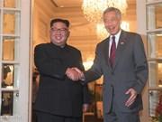 Le PM singapourien Lee Hsien Loong rencontre le dirigeant de la RPDC Kim Jong-un