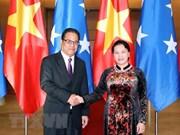 Le président du Congrès des Etats fédérés de Micronésie termine sa visite officielle au Vietnam