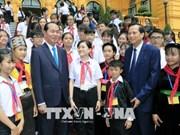 Le président Tran Dai Quang rencontre des enfants en situation difficile