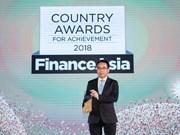 "Vietcombank élue ""meilleure banque du Vietnam"" en 2018 par Finance Asia"