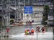 Inondations et glissement de terrain : message de sympathie au Japon