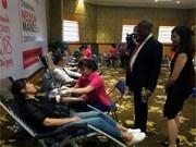 Dons du sang en l'honneur de la journée internationale Nelson Mandela
