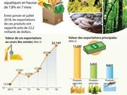 [Infographie] Les exportations agricoles, sylvicoles et aquatiques en 7 mois