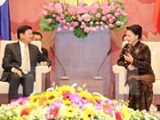 La présidente de l'AN reçoit le Premier ministre laotien