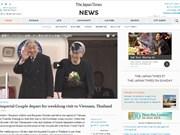 La visite au Vietnam de l'empereur Akihito à la Une des journaux japonais