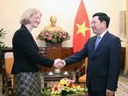 Le vice-Premier ministre Pham Binh Minh reçoit l'ambassadrice de Nouvelle-Zélande