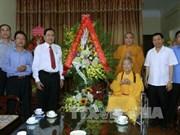 Anniversaire du Bouddha : félicitations des dirigeants du Front de la Patrie du Vietnam