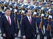 Le président Trân Dai Quang reçu en grand pompe par son homologue chinois Xi Jinping