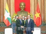 Le chef de l'Etat exhorte à dynamiser les liens Vietnam-Myanmar