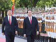 Le président Trân Dai Quang achève une visite fructueuse en Chine