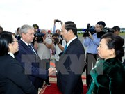 Le président Trân Dai Quang entame sa visite officielle en Biélorussie