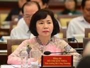 La vice-ministre de l'Industrie et du Commerce rappelée à l'ordre