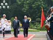 Le Premier ministre turc Binali Yildirim termine sa visite au Vietnam