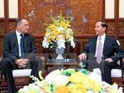 Le président Tran Dai Quang salue les contributions de l'ambassadeur slovaque
