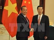 Vietnam-Chine: le vice-PM permanent Truong Hoà Binh rencontre le vice-PM Zhang Gaoli