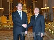 Le roi du Cambodge Norodom Sihamoni félicite le Vietnam