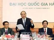 Le PM presse d'accélérer le projet d'Université nationale du Vietnam