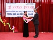 Canon Vietnam construit une école maternelle à Lai Chau