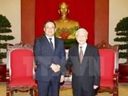 Le secrétaire général Nguyen Phu Trong reçoit le vice-Premier ministre laotien Sonexay Siphandone